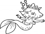 Dora Sea Girl Coloring Page