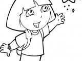 Dora With The Little Star Coloring Page