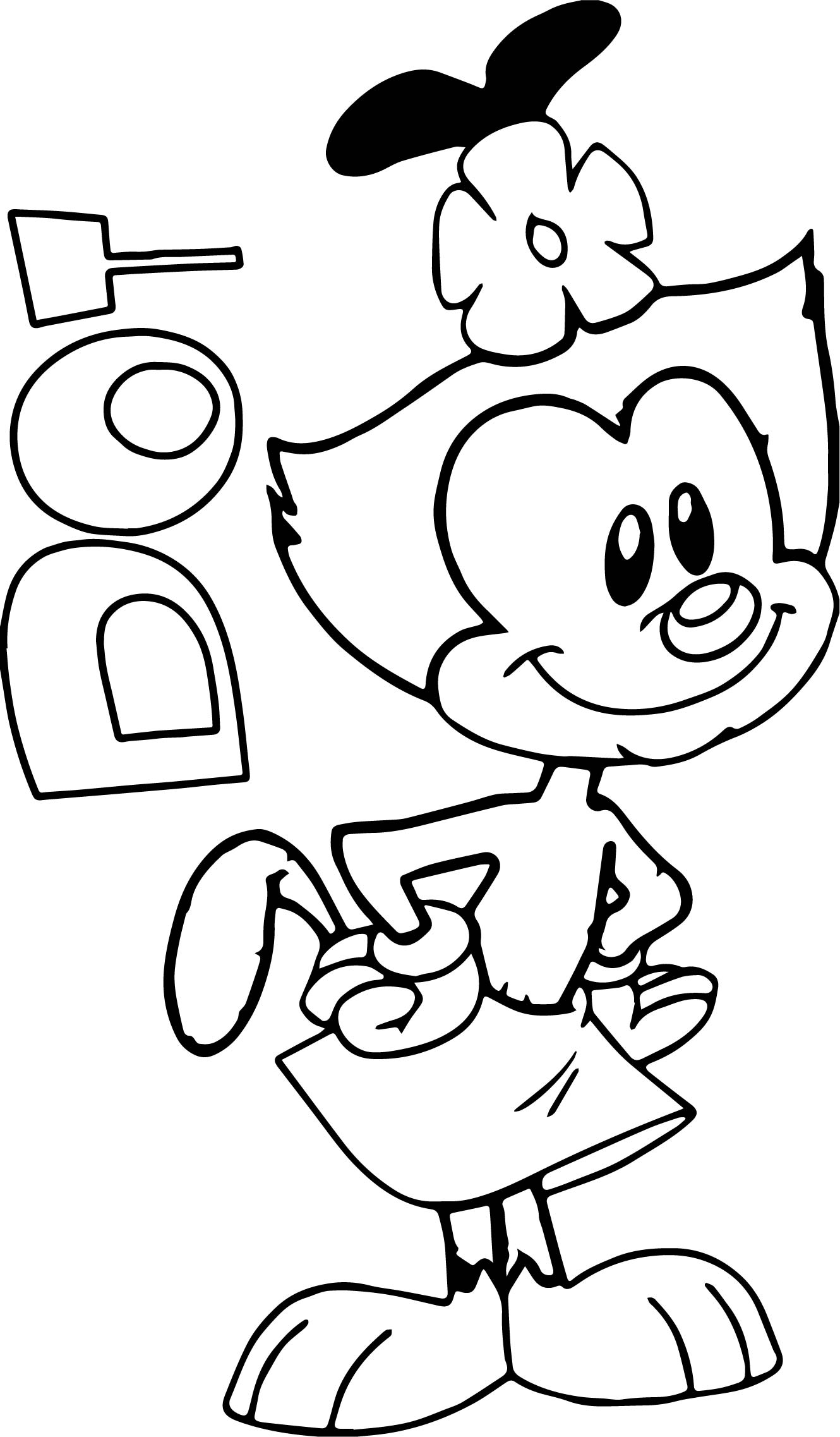 animaniacs coloring pages dot warner brothers animaniacs coloring page