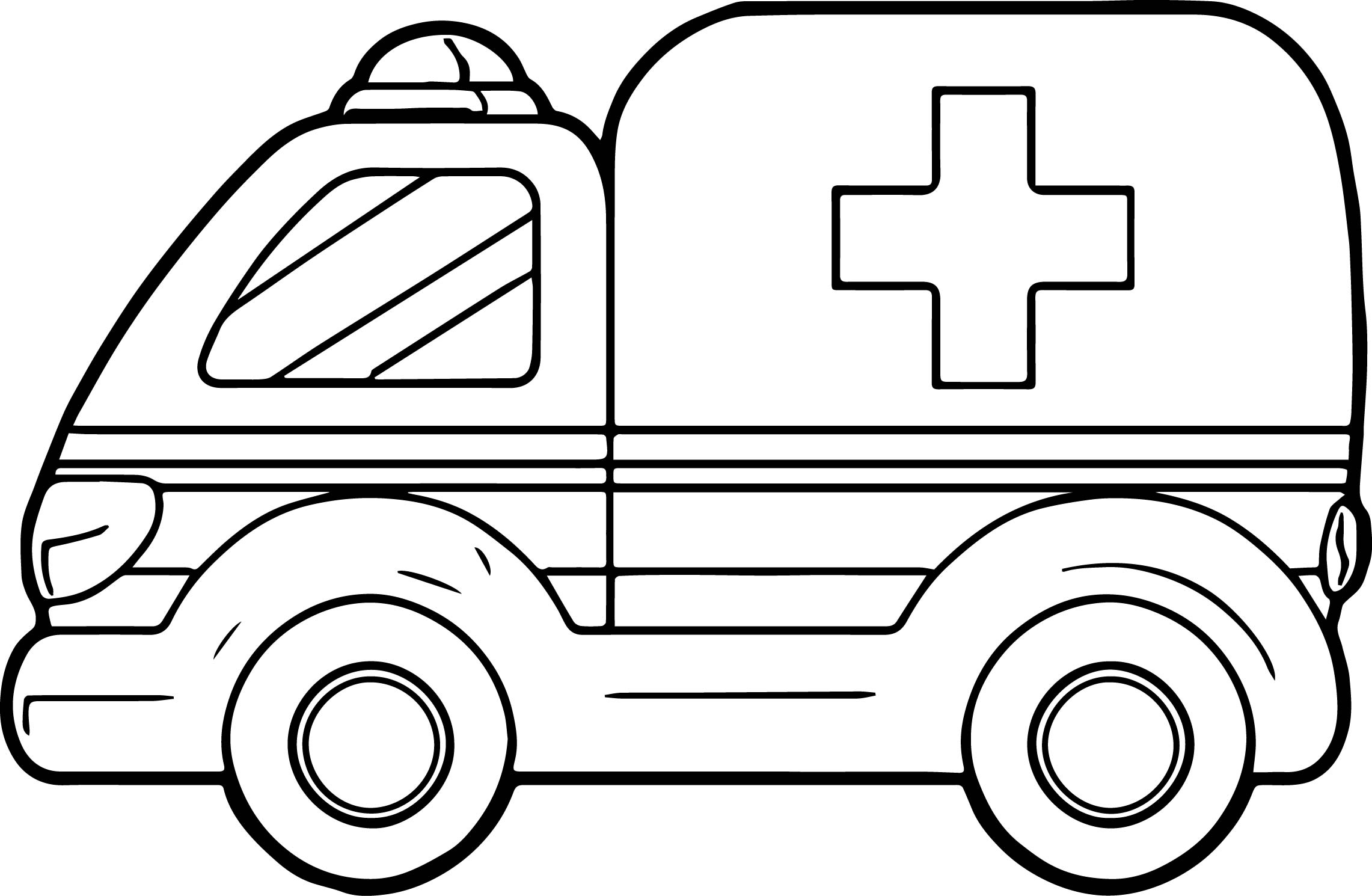 Download Ambulance Coloring Pages