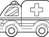 A Ambulance Coloring Pages