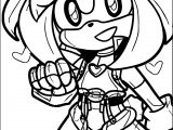 Download Amy Rose Coloring Page