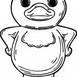 Duck Front View Coloring Page