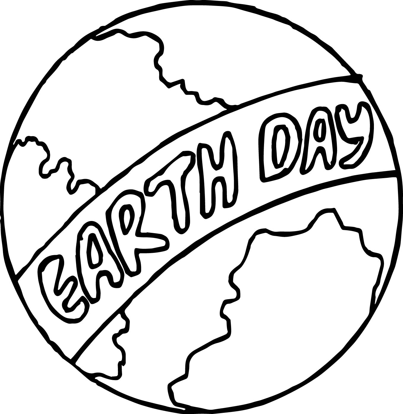 coloring page globe - earth day globe coloring page