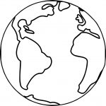 Earth Globe World Coloring Page