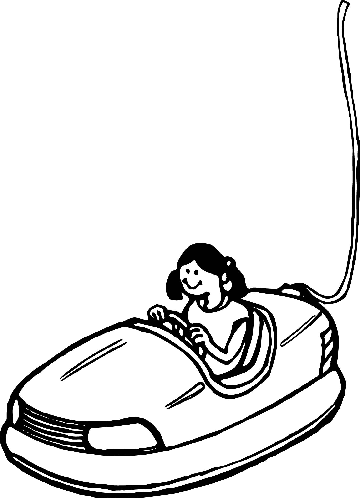 Electric Toy Car Coloring Page