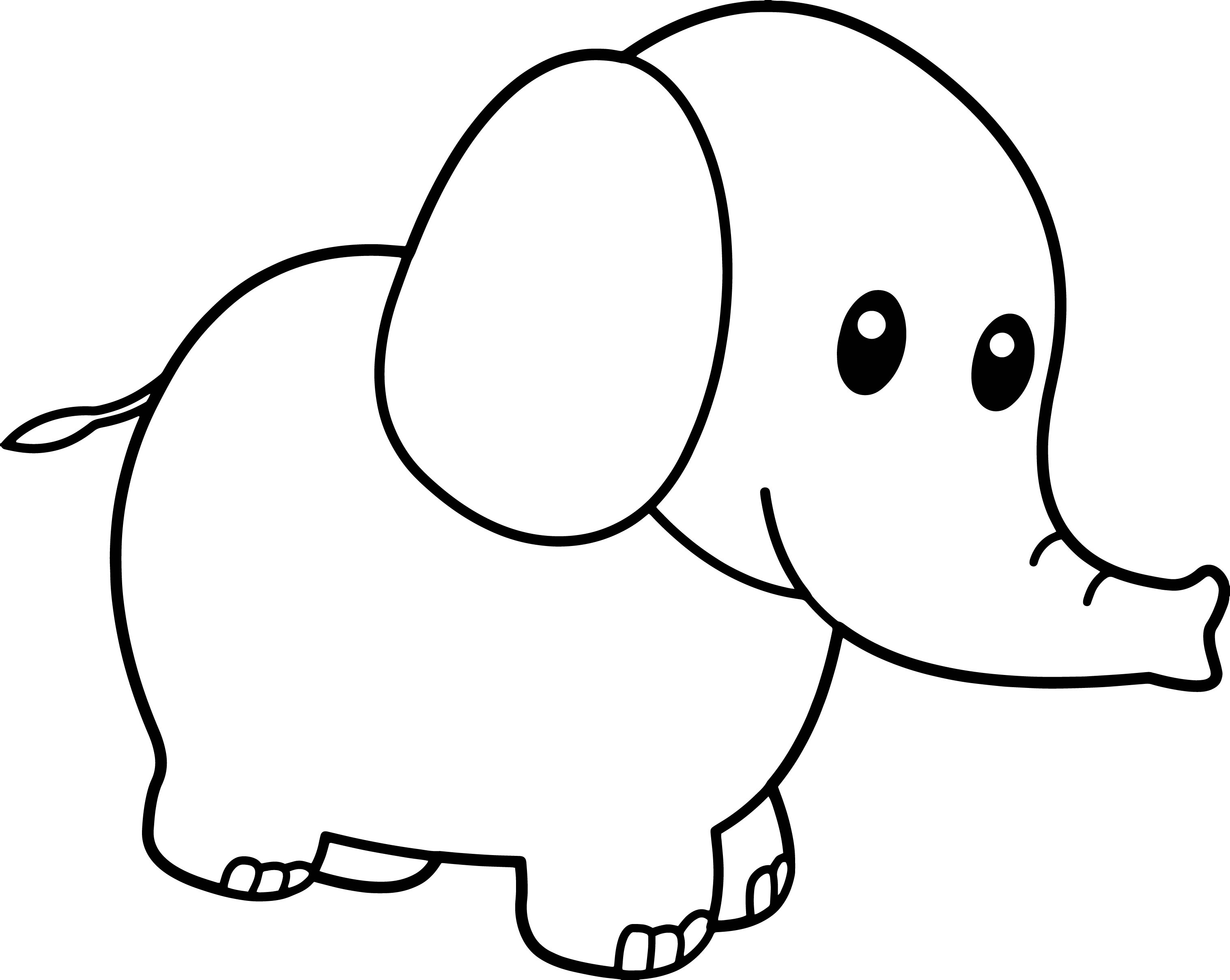 Elephant Baby Coloring Page