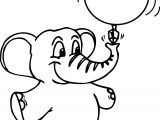 Elephant Ball Coloring Page