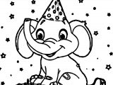 Elephant Birthday Coloring Page