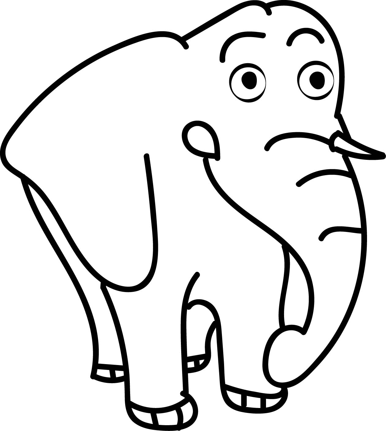 Elephant Download Coloring Page