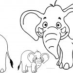 Elephant Family Coloring Page