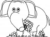 Elephant Flower Coloring Pages