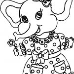 Elephant Girl Dress Coloring Page