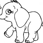 Elephant Love Coloring Page