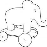 Elephant Perspective Pullalong Coloring Page