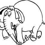 Elephant Pressing The Hose Coloring Page