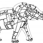 Elephant Quad Coloring Page