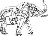 Elephant Quad Coloring Page