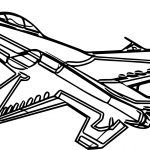 F16 Airplane Coloring Page