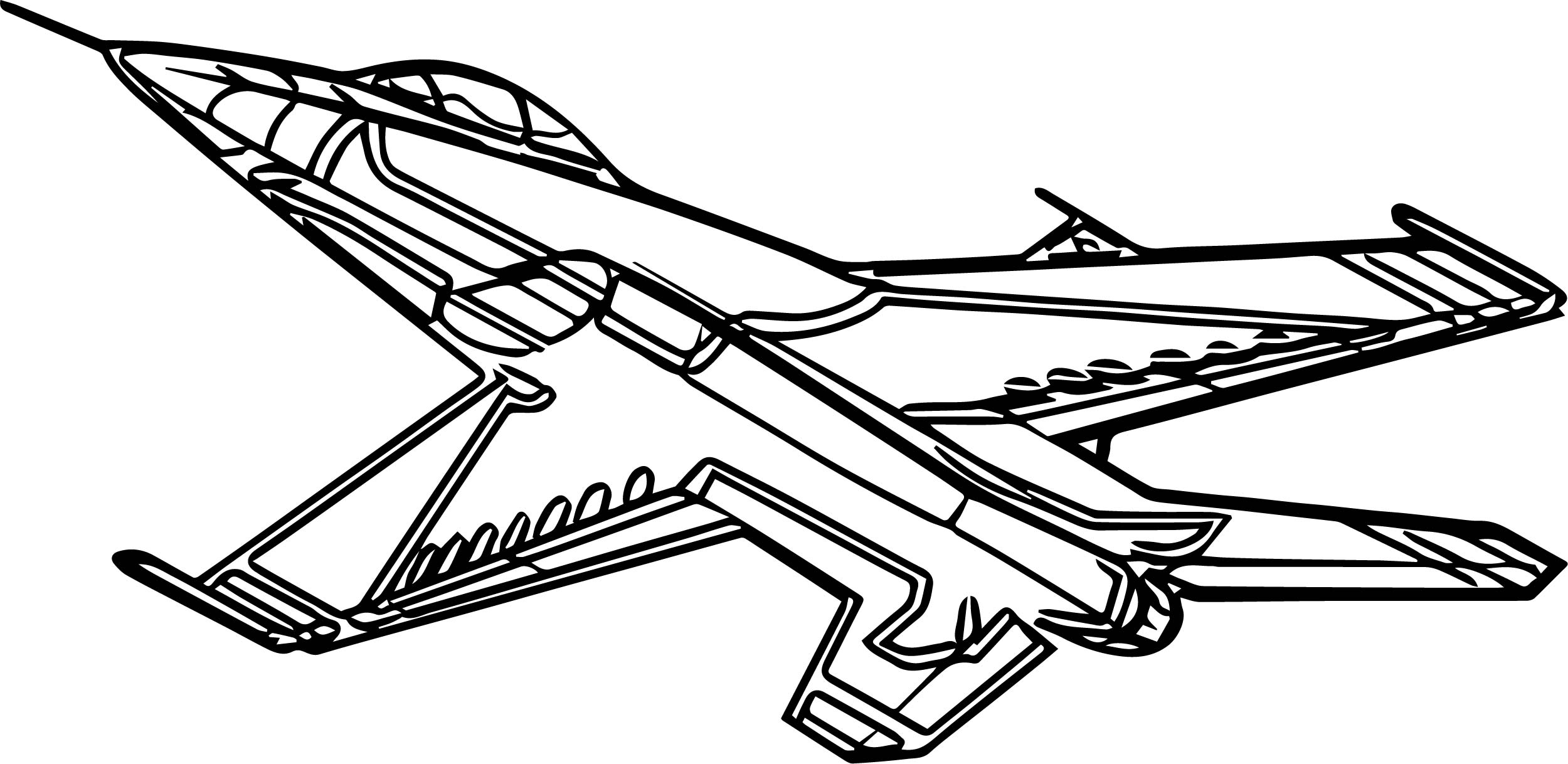 F16 airplane coloring page for Coloring page jet