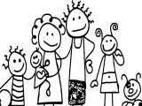 Family Free Family Coloring Page