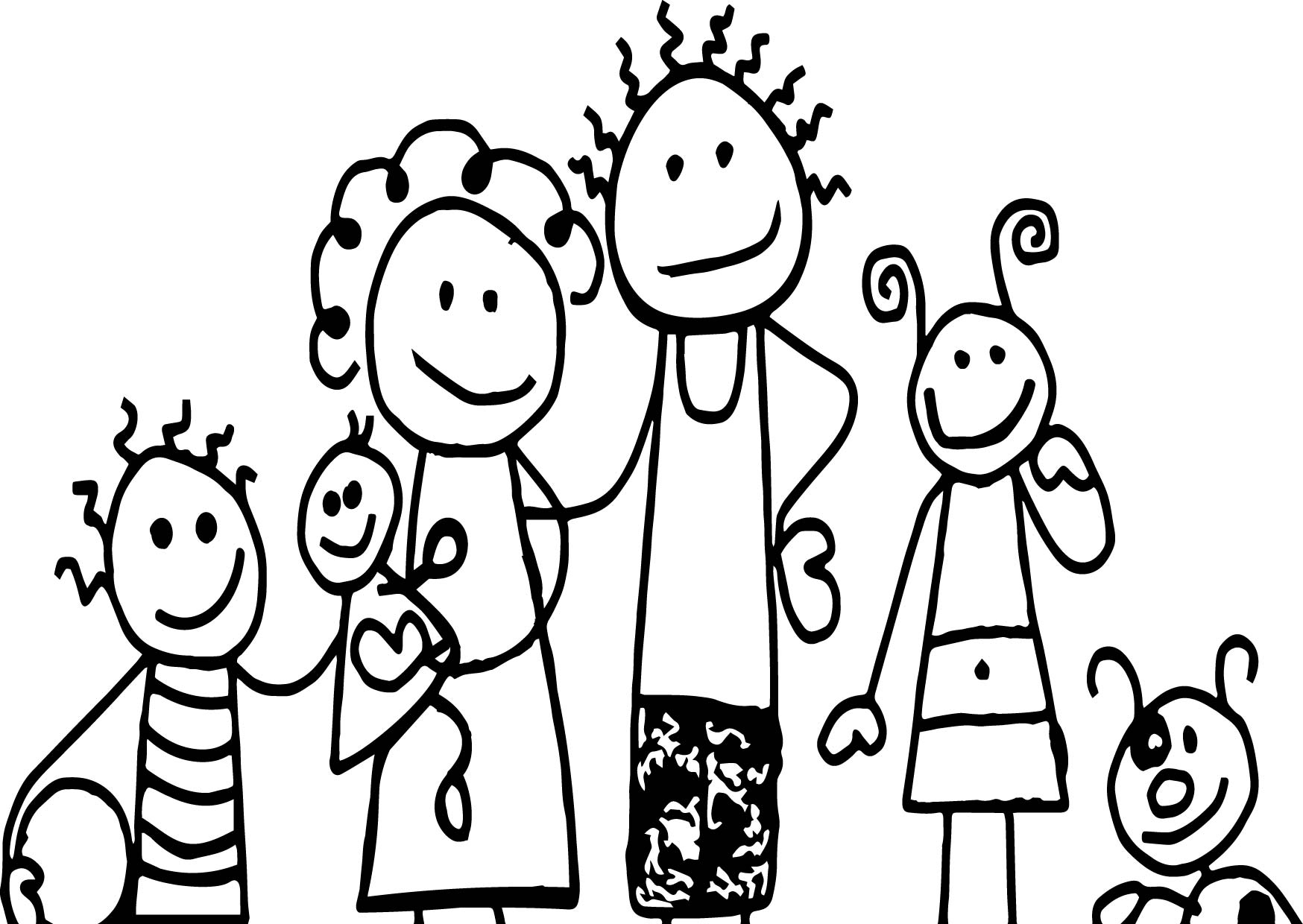 free online family coloring pages - photo#36
