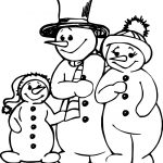 Family People Snowman Family Coloring Page