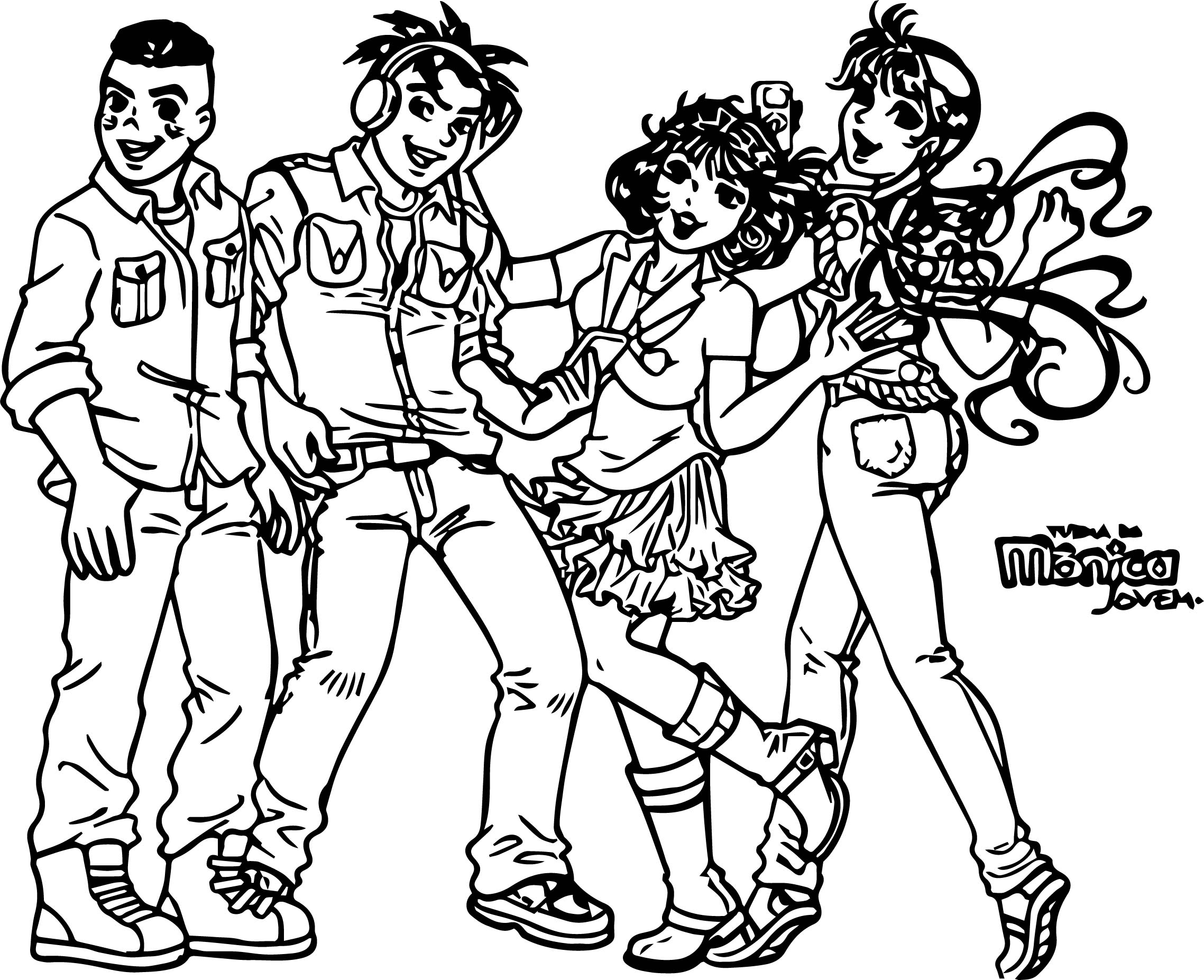 Fanfiction Turma Da Monica Young Ask To A Tmj Coloring Page