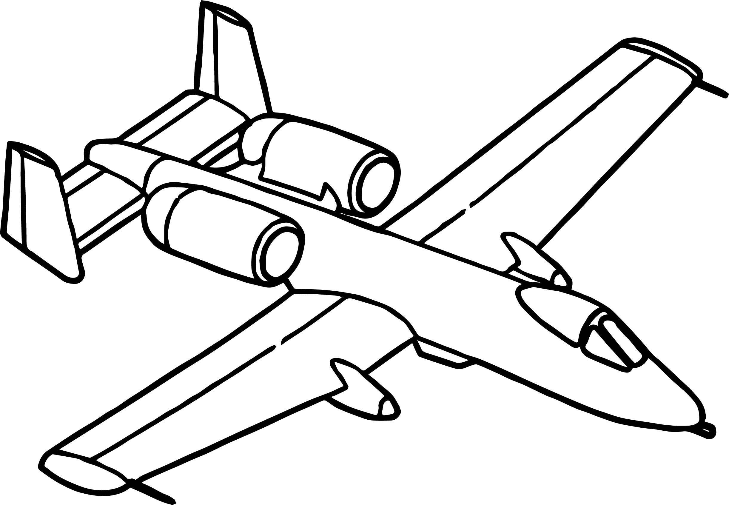 Fast airplane coloring page for Coloring page jet