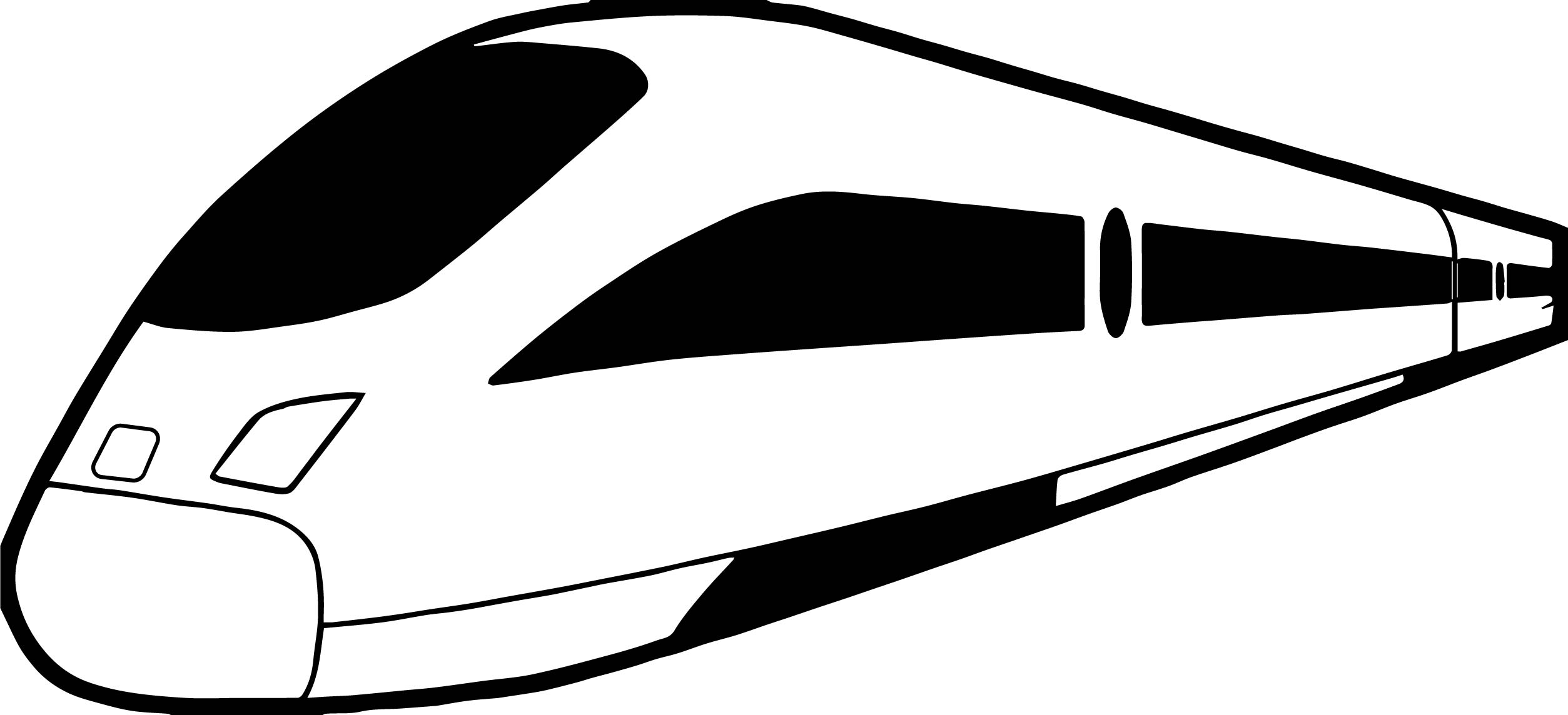 Fastest Train Coloring Page