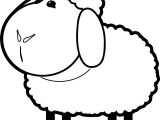 Fat Sheep Coloring Page