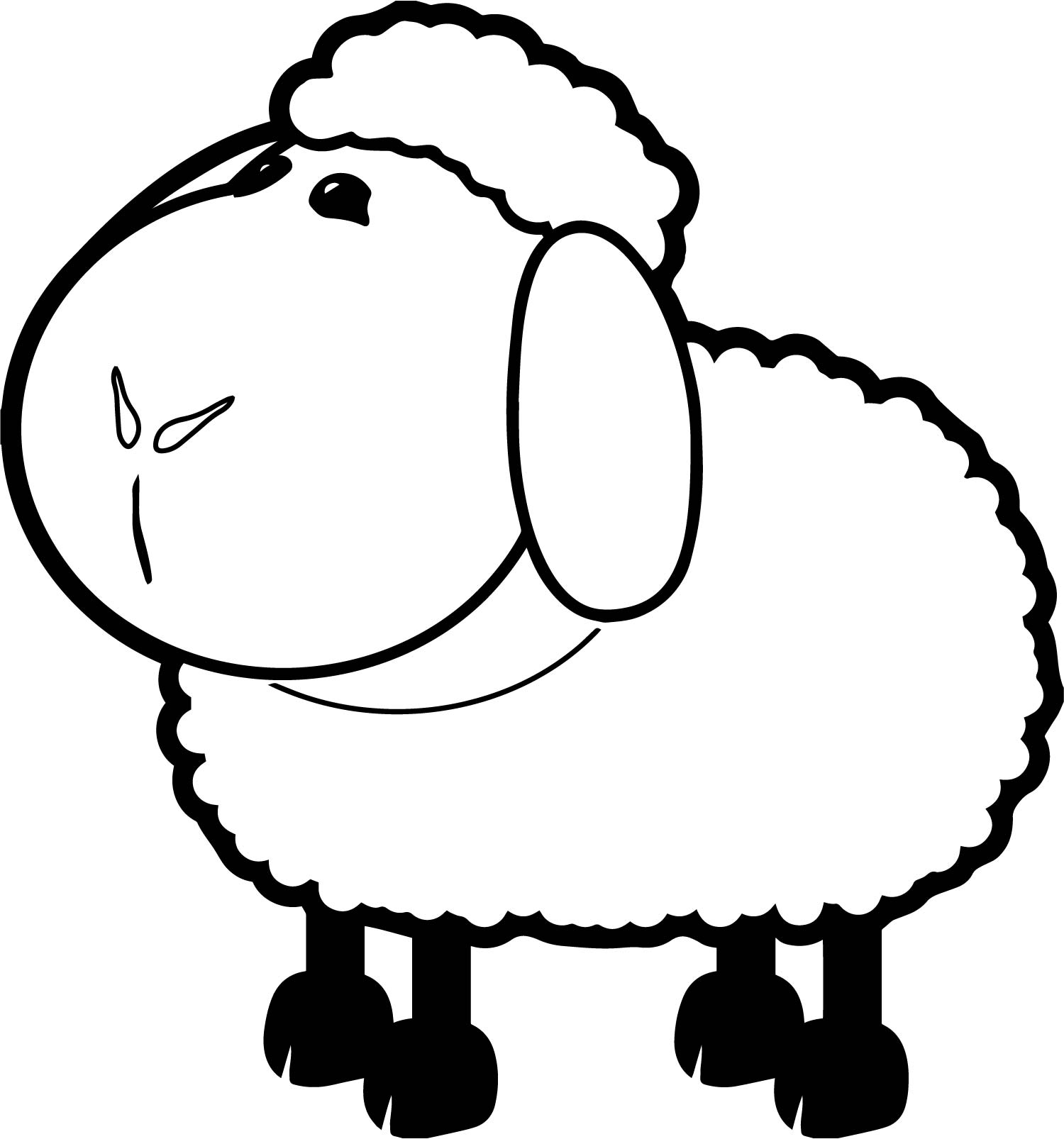 sheep coloring page free sheep online coloring. sheep coloring pages ...
