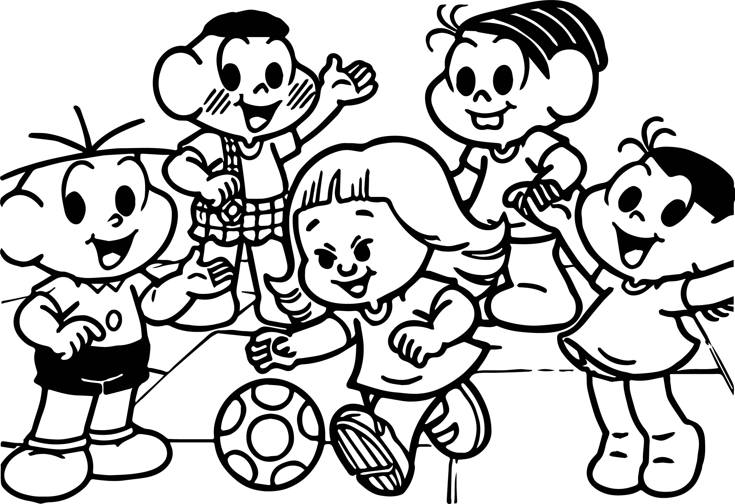 Featured Inclusion Social Turma Da Monica Coloring Page