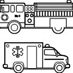 Fire Department Ambulance Car Coloring Page