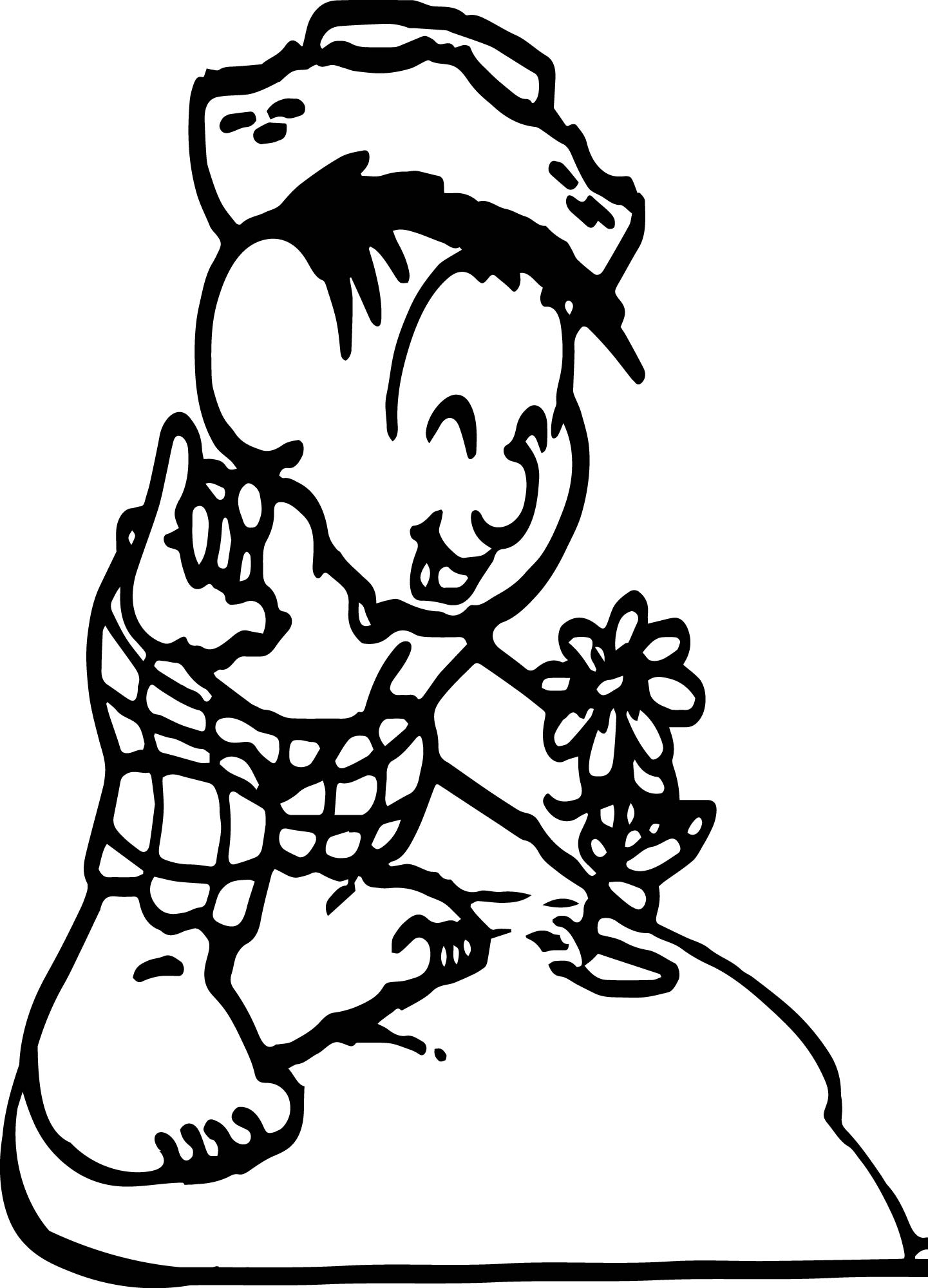 Flower Boy Coloring Page