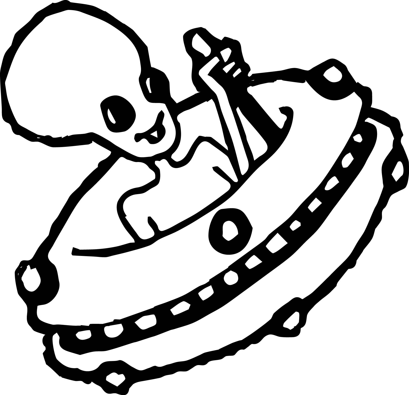 Flying Alien Coloring Page