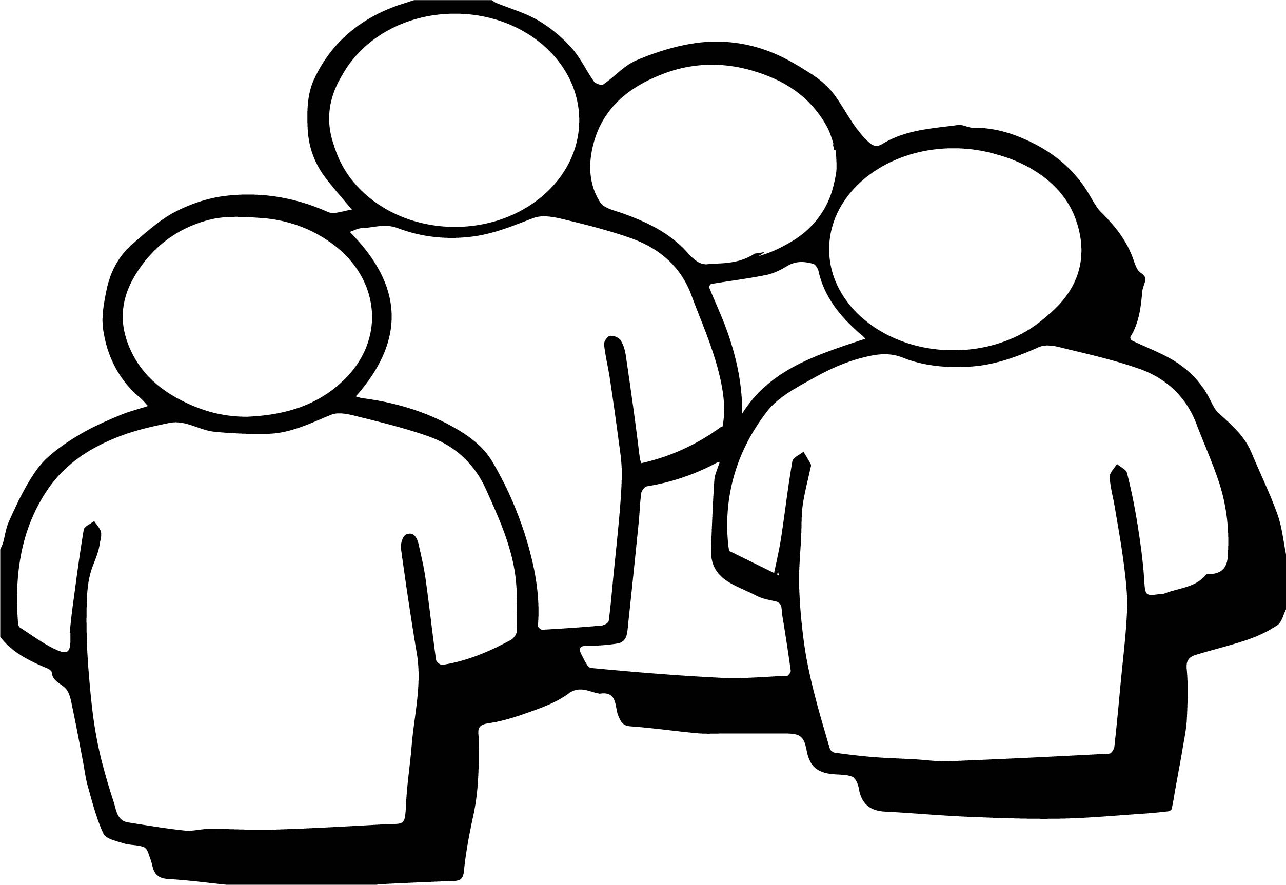 Four Figure People Coloring Page