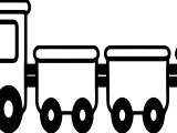 Four Train Coloring Page