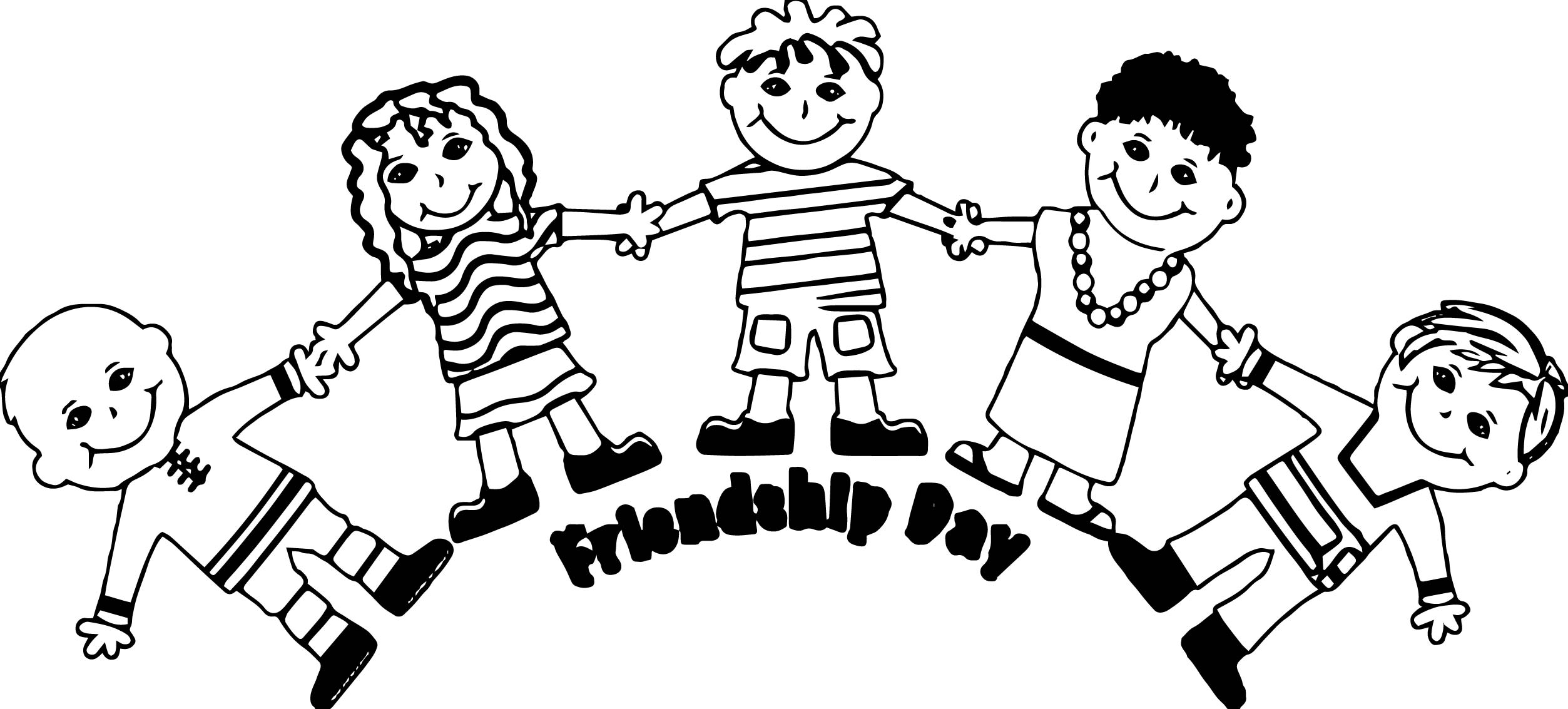 Friendship Girls Coloring Page