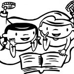 Friendship Reading Book Coloring Page