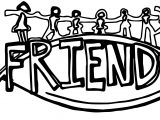 Friendship Text Coloring Page