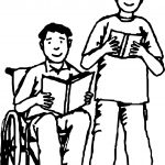 Friendship Up Down Boy Coloring Page