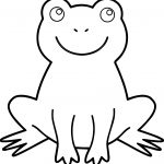 Frog Amphibian Stay Coloring Page