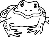 Frog Bullfrog Amphibian Coloring Page