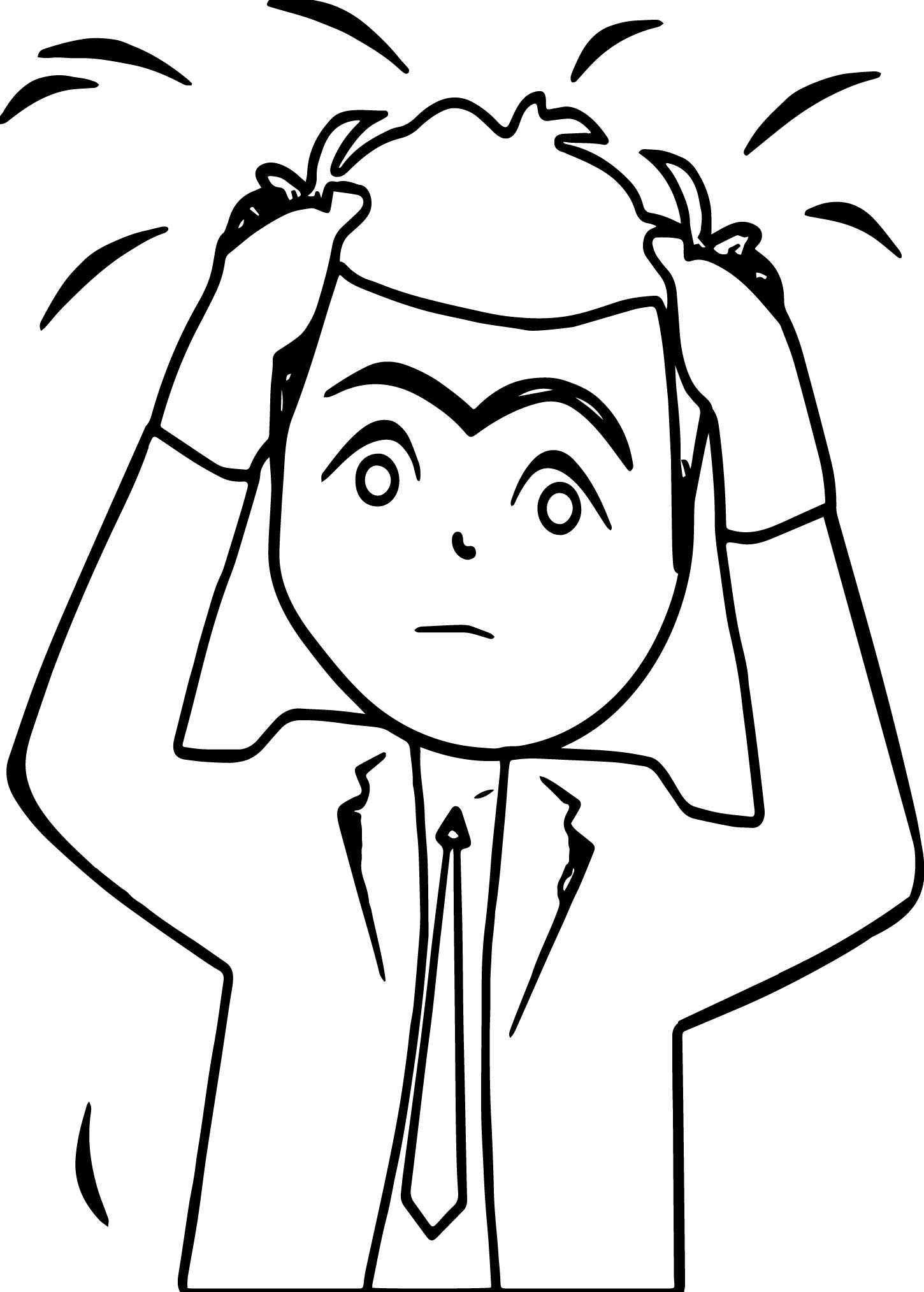Funny Stressful Angry Management Coloring Page