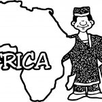 Geo Map Africa Blank Coloring Page