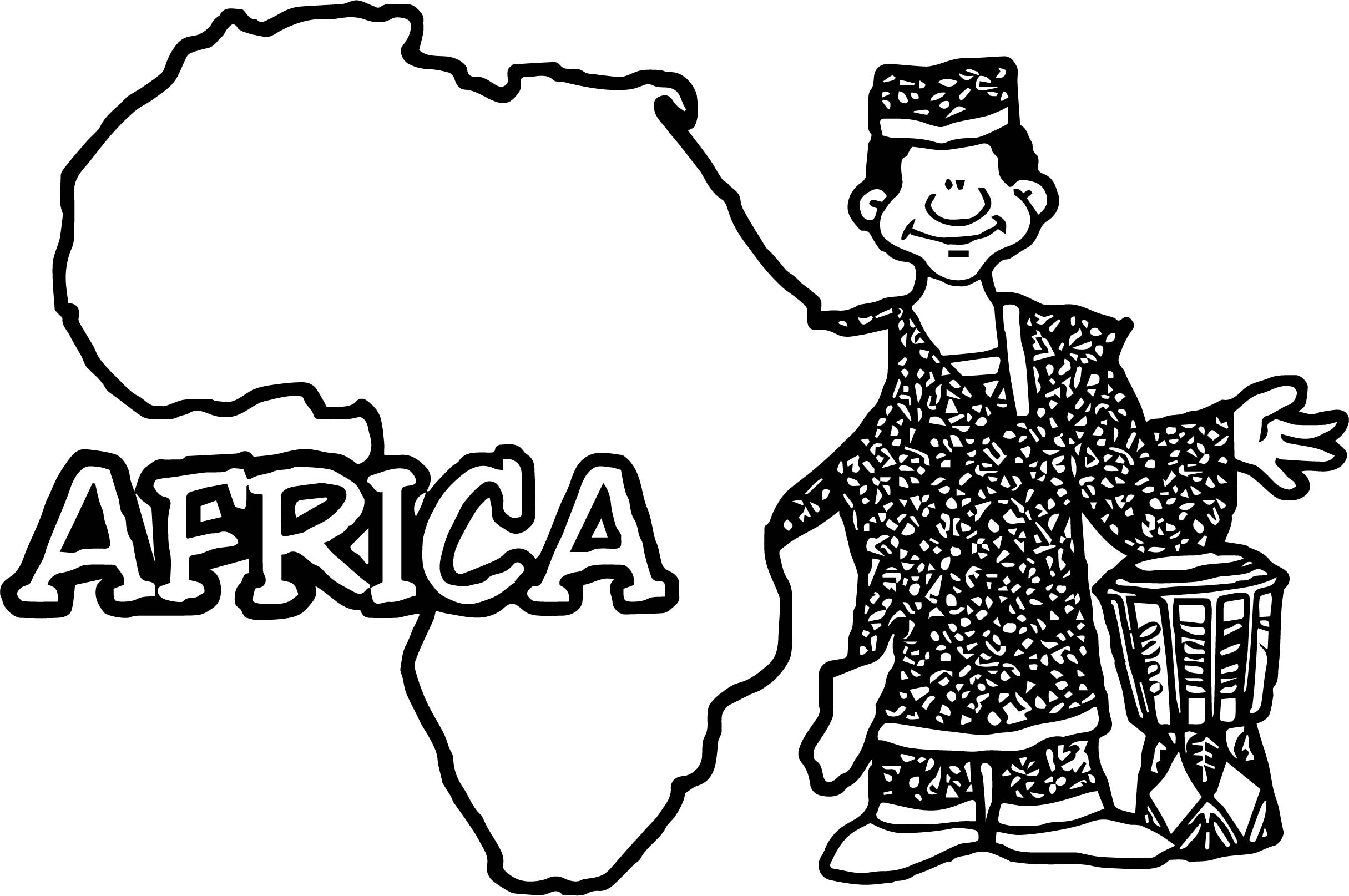 Geo map africa blank coloring page for Map of africa coloring page