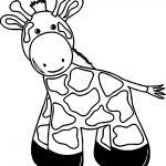 Giraffe Black Foot Coloring Page