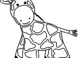 Giraffe Black Foot Coloring Page