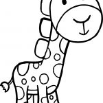 Giraffe Cartoon Free Kids Beautiful Coloring Page
